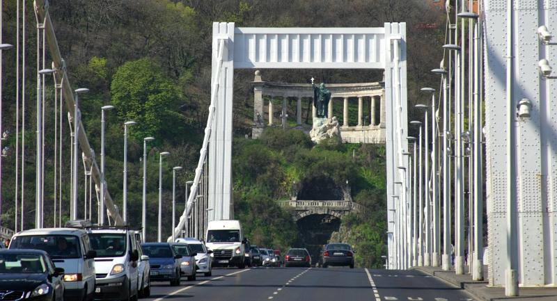 Az Erzsébet híd és a camera obscura